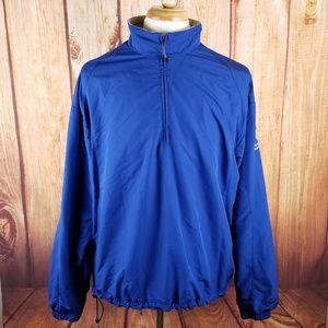 Nike Golf Blue 1/3 Zip Windbreaker Jacket Size XL